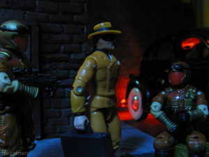 Gijoe vs cobra hasbro headhunters def action figure vintage