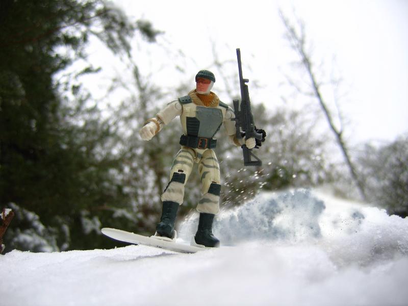 GI Joe Weapon Snowboard MISSILE Valor vs Venom Frostbite 2005 Original Accessory